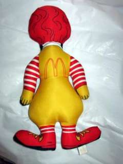 RONALD McDONALD vintage cloth doll
