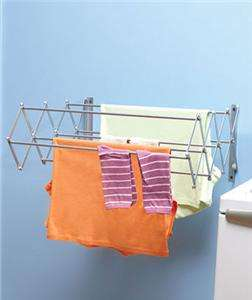 NEW Rust Proof Metal Expandable Wall Mount Indoor Laundry Drying Rack