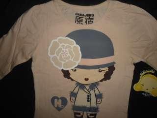 NEW GIRL HARAJUKU LOVERS ROARING 20S KID LOVE PEACH SHIRT 12