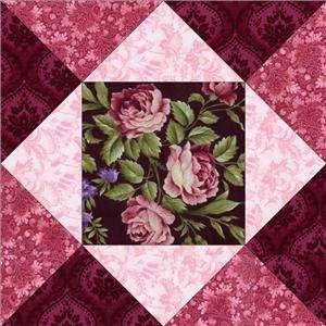 RJR Giselle Mauve Pink Burgundy Violet Floral Rose Pre cut Quilt Kit