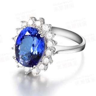DESIGN Diana Kate 18K White Gold Blue Tanzanite VS Diamond Wedding