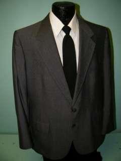 LANVIN Jacket DARK GRAY Sport Coat Wool FLECK FLECKED Blazer Mens 42