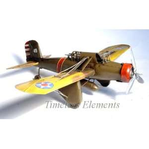 WWII Military Airplane Model, Aircraft Fly Tin Display
