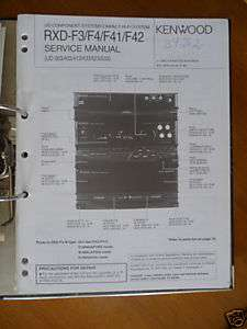 Service Manual Kenwood RXD F3/F4/F41/F42 HiFi,ORIGINAL