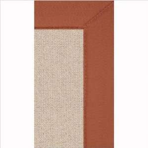 Athena Natural & Burnt Orange   8 x 11   Linon Rugs   RUG AT011081