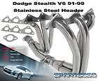 1991 DODGE STEALTH R/T ES V6 NON TURBO STAINLESS STEEL RACING HEADER