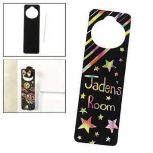 Magic Color Scratch Doorknob Hangers   Craft Kits & Projects & Magic