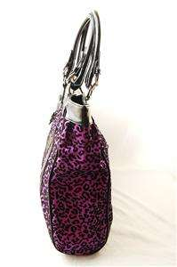 NWOT AUTH Betsey Johnson Leopard Animal Print Large Tote Bag Fuchsia