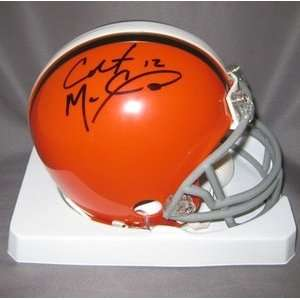 Colt McCoy Autographed Cleveland Browns Riddell Mini