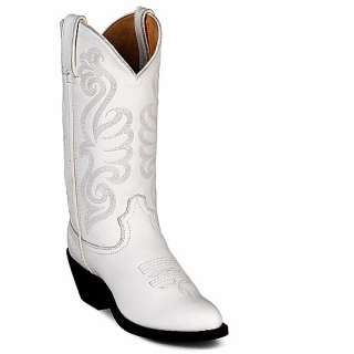 Womens DURANGO White Leather Western Boots RD4111