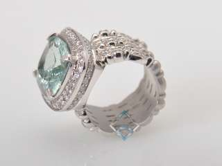 Doris Panos Lovely 18K White Gold Diamond Beryl Ring