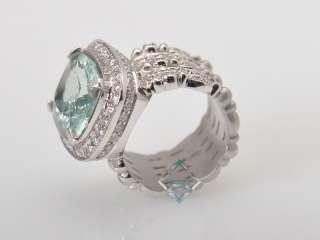 Doris Panos Lovely 18K White Gold Diamond Beryl Ring