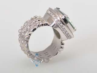 Description Doris Panos 18K white gold, diamonds and green beryl