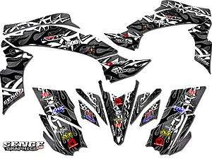RAPTOR 700 RAPTOR700 YAMAHA GRAPHICS KIT DECO STICKERS ATV QUAD 4