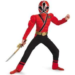 Rangers Samurai   Red Ranger Muscle Child Costume / Red   Size Large
