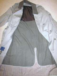 Mens Stafford Lined Beige Double Breasted Trech Coat/RainCoat Size 44