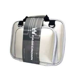 Double Memory Foam Case with Shoulder Strap (Silver Metallic