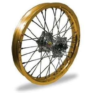 Wheel MX Rear Wheel Set   19x1.85   Gold Rim/Silver Hub 24 51014 HUB
