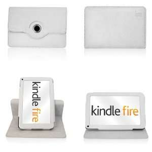 Kindle Fire  WHITE  360° Rotating Case & Cover