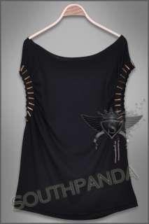 SC140 Duck Black T shirt Top Punk Gothic Punk Rock