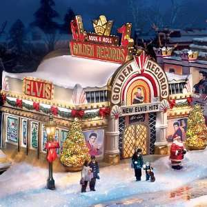 Elvis Rock And Roll Christmas Village Collection Home