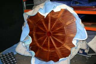 Large Round Mahogany Dining Table w/ Leaves  Perimeter