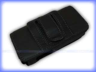 Horizontal Black Leather Case for Nokia E52