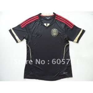 12 mexico away soccer jersey black soccer uniforms