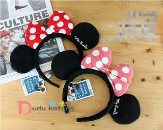 Minnie Mouse Garment Dress Up Ears Headband Red/Pink