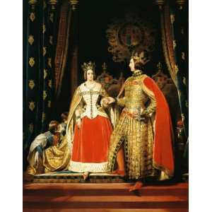 QUEEN VICTORIA AND PRINCE ALBERT AT THE BAL COSTUME OF 12