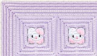 Baby Hello Kitty Quilt Afghan Blanket CROCHET PATTERN