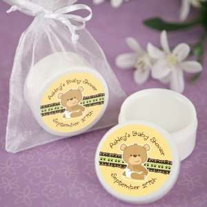 Baby Teddy Bear   Personalized Lip Balm Baby Shower Favors