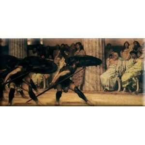 A Pyrrhic Dance 30x14 Streched Canvas Art by Alma Tadema