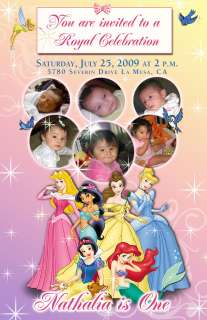 Personalized Photo Disney Princess Collage Invite