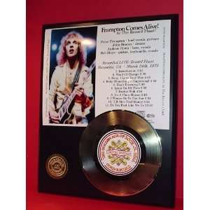 Peter Frampton 24kt Gold Record LTD Edition Display ***FREE PRIORITY