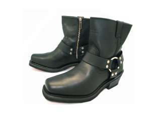 HARLEY DAVIDSON El Paso Womens Leather Black Boots D84422 Size 6