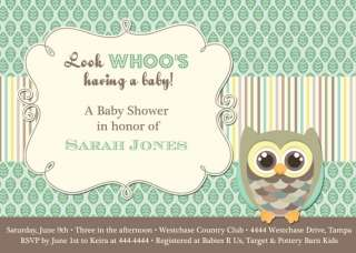 OWL BABY SHOWER INVITATIONS U PRINT FAST