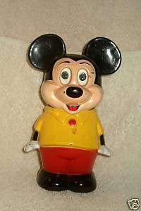 1960 70s MICKEY MOUSE Pre School Toy MUSICAL (Eyes & Body Moves) 6 1