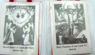 True Red Scapular Of Passion Sacred Hearts W Prayer Card Tools Of The