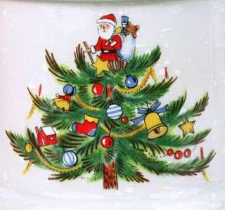 MIKASA CHRISTMAS TREATS Tree SANTA Pillar Candle Holders HP306 5