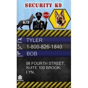 SECURITY K9 ID Badge   1 Dogs Custom ID Badge   Design#1