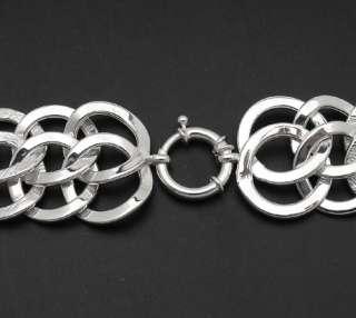Epiphany Platinum Clad Bracelet Sterling Silver  30g