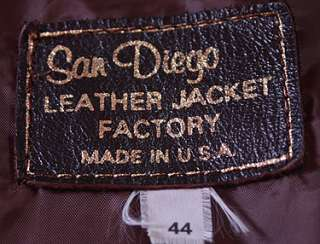 VTG SAN DIEGO A2 USN SOFT LEATHER FLIGHT JACKET sz 44