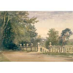 David Cox   24 x 16 inches   The Terrace, Haddon Hall
