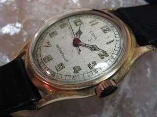 Eska Vintage 18K Rose Gold/Stainless Steel Wrist Watch