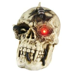 Evil Demon Skull Wall Hanging Figure Flashing LED: Home