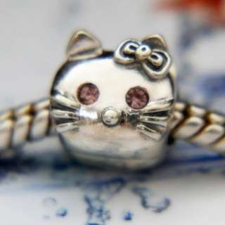925 SILVER BEAD FOR EUROPEAN CHARM BRACELET G118 HELLO KITTY CAT