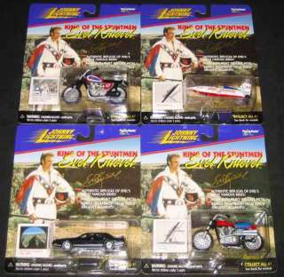 Johnny Lightning Evel Knievel Complete Set of 4 NEW