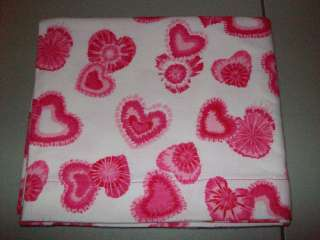 Tie Dye Shades of Pink Hearts/Valentine Queen Pillowcase New