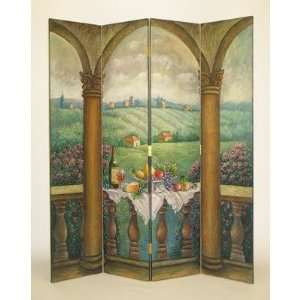 Wayborn 2256 Picnic in uscany Room Divider Furniure & Decor